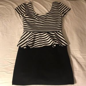 Black & white urban outfitters formal dress
